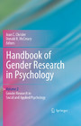 Handbook of Gender Research in Psychology - Volume 2: Gender Research in Social and Applied Psychology